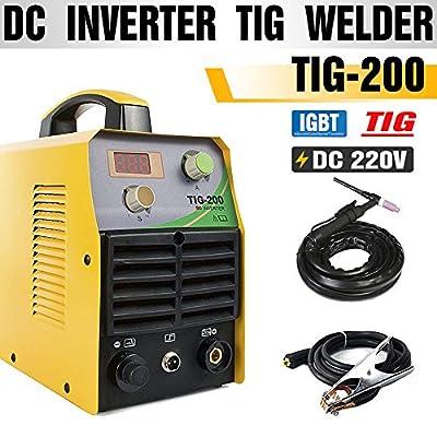 TOSENBA TIG Welder TIG Welding Machine 200Amp 220V DC IGBT Inverter Digital Display Portable Tig200
