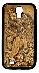 Lion His Attendants Custom Samsung Galaxy I9500/Samsung Galaxy S4 Case Cover Polycarbonate Black