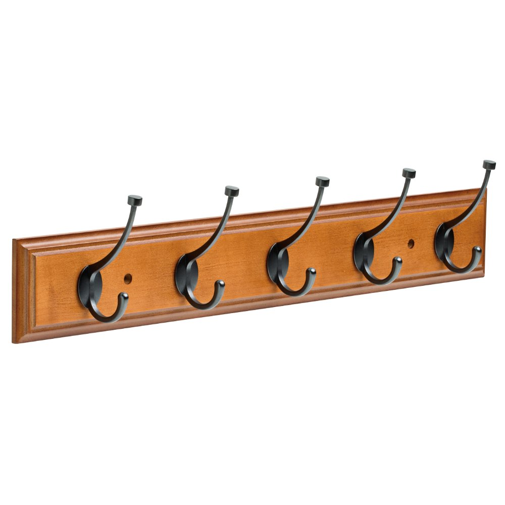 Franklin Brass FBPLLT5-512-R 26.5'' Rail with 5 Pilltop Hooks in Warm Chestnut & Soft Iron
