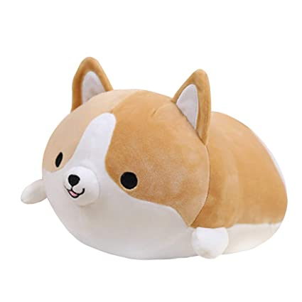 Casey Unique Adorable Corgi Dog Plush Pillow Stuffed Soft Toy( Brown)