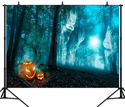 SZZWY 9X6FT(270X180CM) Pumpkin Lamps Ghost Halloween Party Theme Customized Seamless Vinyl Photography Backdrop Photo Background Studio Prop PGT146B for $<!--$29.99-->