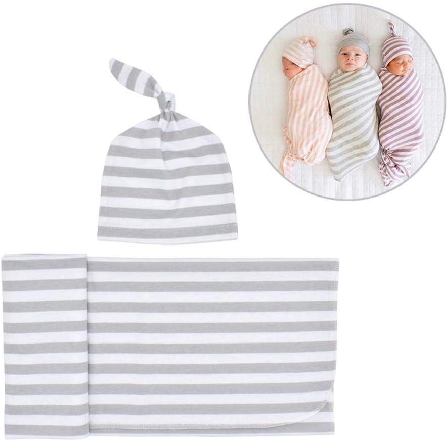Volwco - Manta para bebé con Gorro de algodón Ajustable para bebés recién Nacidos, Saco de Dormir con Gorro para niñas y niños: Amazon.es: Hogar