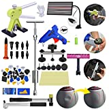Fly5D 56pcs Car Dent Repair Tools Kit Pull Up Stainless Steel Dent with Metal Puller Sets