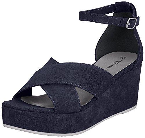 Sandales Cheville 28080 Tamaris Bleu Navy Noir Femme Bride qSvw8w