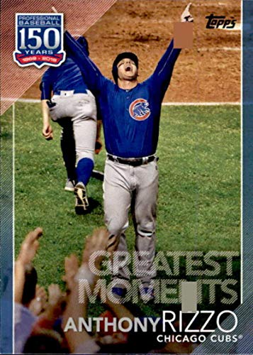 2019 Topps 150 Years of Baseball Greatest Moments #GM-22 Anthony Rizzo Chicago Cubs Baseball Card