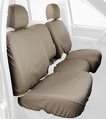 Covercraft SeatSaver Front Row Custom Fit Seat Cover for Select Dodge//Jeep Models SS2461PCTP Polycotton Taupe