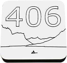 Kate Grenier Designs Montana 406 design Coasters (4 Pack), White