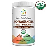 Cheap Certified Organic Ashwagandha Root Powder 16Oz -1Lb. Natural Stress, Brain and Immune Support. Enhances overall Health. Raw Superfood. 100% Natural Herbal Supplement. No GMO. Gluten Free.