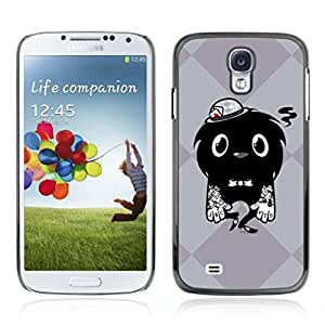 Colorful Printed Hard Protective Back Case Cover Shell Skin for Samsung Galaxy S4 IV (I9500 / I9505 / I9505G) / SGH-i337 ( Cool Tattoo Monster )