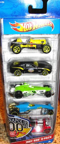 Hot Wheels Indy 500 5 Pack   100Th Anniversary Edition  Styles May Vary By Mattel