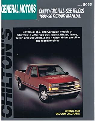 chilton s general motors full size trucks 1988 96 repair manual rh amazon com 1996 chevy suburban repair manual pdf 1996 Suburban 2500 Specs