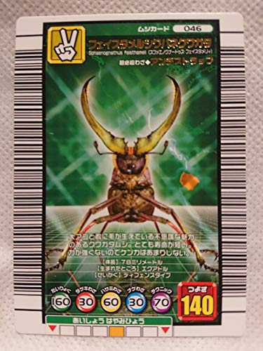 ムシキング 甲虫王者ムシキング ムシカード フェイスタメルシワバネクワガタ 046