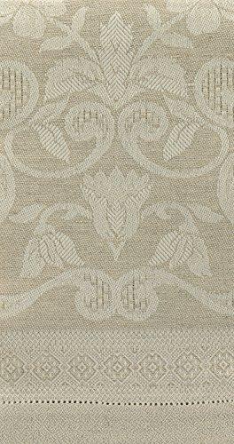 Tessitura Pardi Damasco Natural Misto Linen Large Italian Guest Towel ()