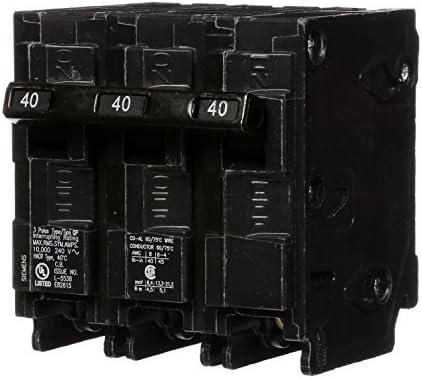 Q340 40-Amp Three Pole Type QP Circuit Breaker