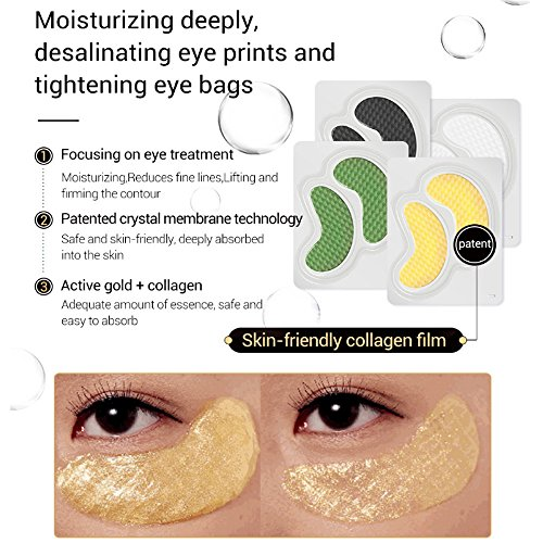 TrimakeShop 1PC Eye Collagen Aging Wrinkle Under Crystal Gel Patch Anti Mask (Green) by TrimakeShop (Image #2)