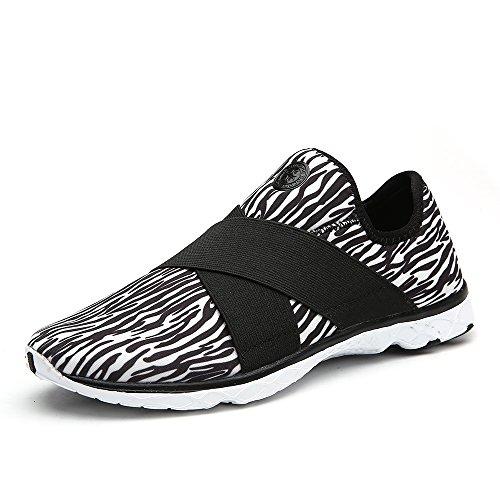 Aleader Women's Slip On Amphibious Walking Shoes Sport Water Sneakers Black 9 D(M) US