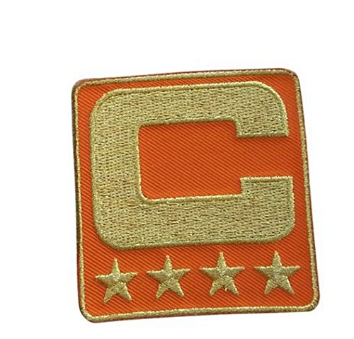 Wendy Orange Captain C Patch (All Gold) Sewing On for Jersey Football, Baseball. Soccer, Hockey Jersey