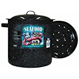 Columbian Home F6315-4 15.5 Quart Seafood Clam Food Steamer with Lid and Insert