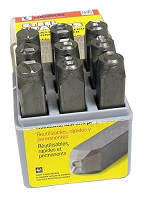Stamp Number Kit 1/4in Steel