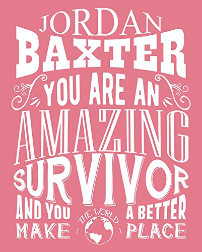 Personalized You Are An Amazing Survivor Gift for Women Breast Cancer Awareness Fighter Award Metal Sign Tin 30 x (Breast Cancer Awareness Tins)
