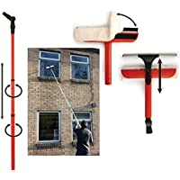 window clean Dekton 3.5m Washing Set Equipment Telescopic Extension Pole Squeegee Kit