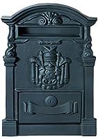 Vigor Blinky 27295-05 Boîte aux lettres en fonte Noir 28 x 9 x 41cm