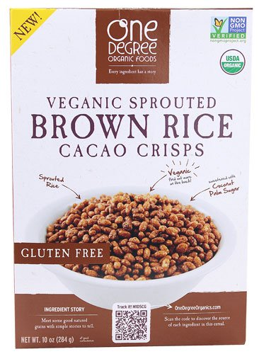 One Degree Organic Foods Sprouted Brown Rice Cacao Crisps