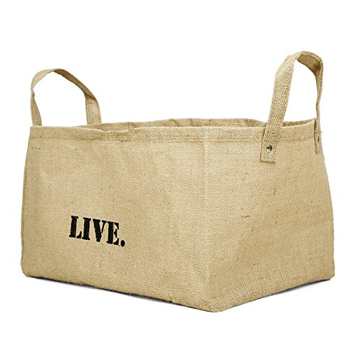 Large Decorative Baskets , Eco Friendly Jute comes in FAITH LOVE JOY DREAM LIVE SHARE PEACE FOREVER