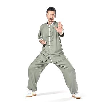 SSR Tai Chi Uniforme Mujeres Hombres Algodón Y Lino Kung Fu Ropa ...