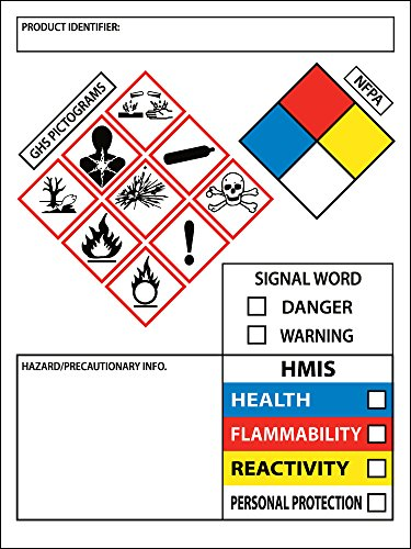 Ehsgurunew ghs chemical label osha hmis nfpa diamond lab for Ghs label stickers