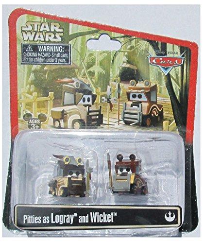 Disney Star Wars Pixar Cars Pitties as Ewoks Logray & Wicket 1/55 Die-Cast Series 3 NEW 2015 Release