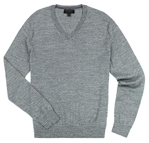 Banana Republic - Men's - Merino Wool V-Neck Sweater (Multiple Color/Size Options) (Medium, Light Grey) -