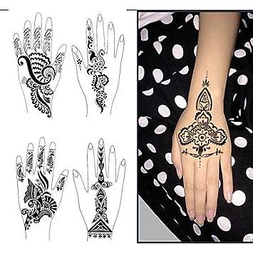 MDE 1pcs Tattoo-Vorlagen H?nde / F¨¹?e Henna-Tattoo-Schablonen f¨¹r ...