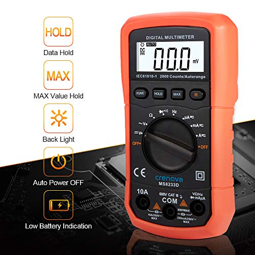 Crenova-MS8233D-Auto-Ranging-Digital-Multimeter-Home-Measuring-Tools-with-Backlight-LCD-Display