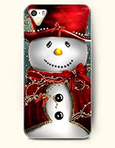 OOFIT Phone Case design with Snowman with Yellow Nose for Apple iphone 5 5s 5g by runtopwell