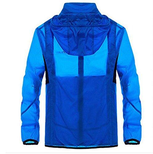Upf30 Vento Giacca Outdoor Maschile A Contro Essiccazione Sottile Pelle Blue SEn76Wc