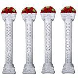 Amon Tech 4PCS Elegant Wedding Roman Column Set Wedding Event Decorative Columns 53'' Tall Adjustable Height