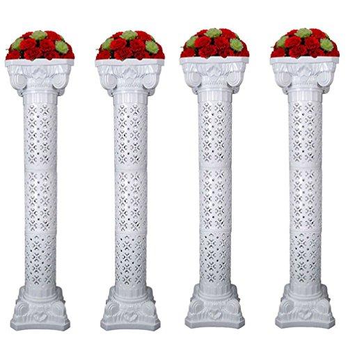 Amon Tech 4PCS Elegant Wedding Roman Column Set Wedding Event Decorative Columns 53