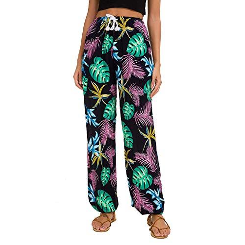 VEZAD Fashion Wide Leg Pants Women Striped Print Casual Leggings Trousers