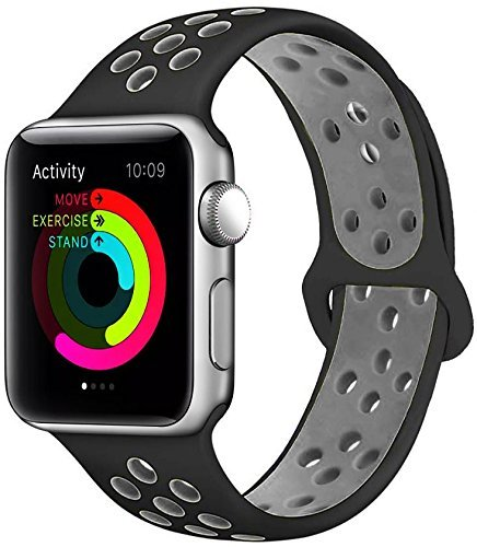 For Apple watch Band 42mm, Silicone iWatch Bands 42mm for Series 3 2 1
