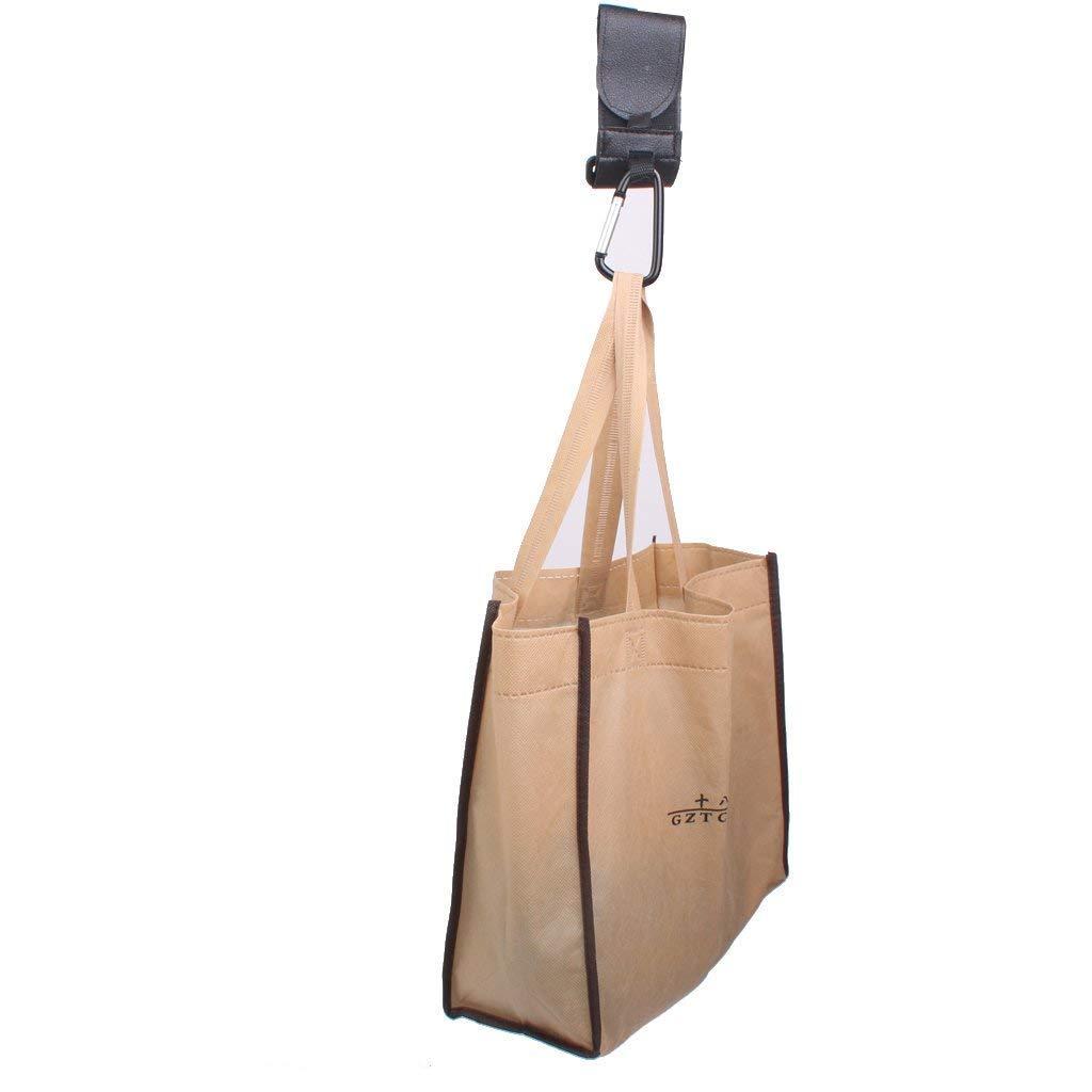 TrifyCore Buggy Clips Baby Pram Pushchair Stroller Hooks 2PCS Black