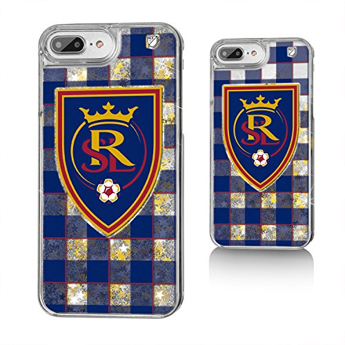 Keyscaper MLS Real Salt Lake Plaid Glitter Case for iPhone 8 Plus/7 Plus/6 Plus, Clear by Keyscaper