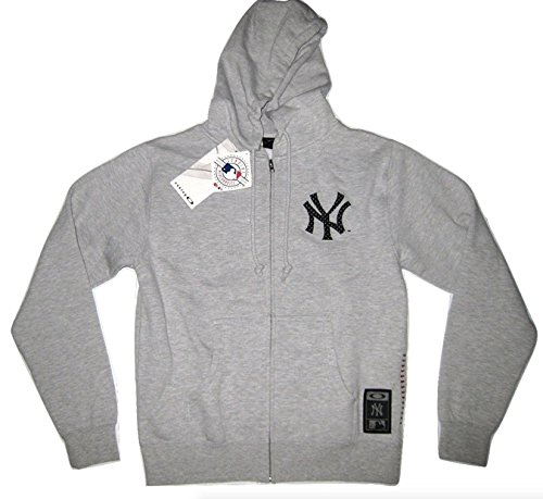Oakley Yankees Holler Back Fleece MLB Authentic Hoodie - Heather Gray (M, Heather Gray)