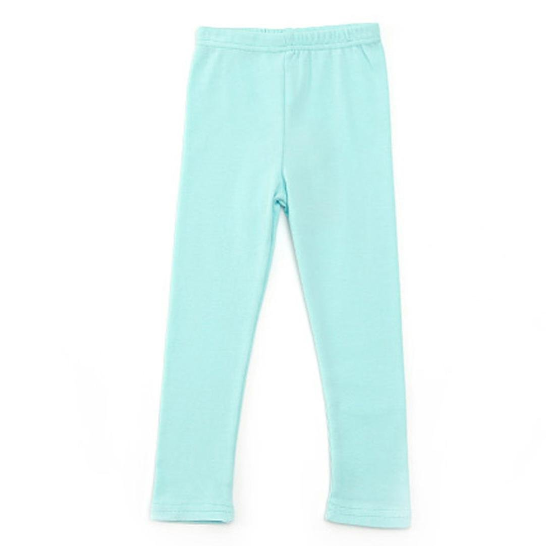 12 Colors Unisex Boy Girl Cotton Solid Stretch Long Leggings Toddler Tight Pants