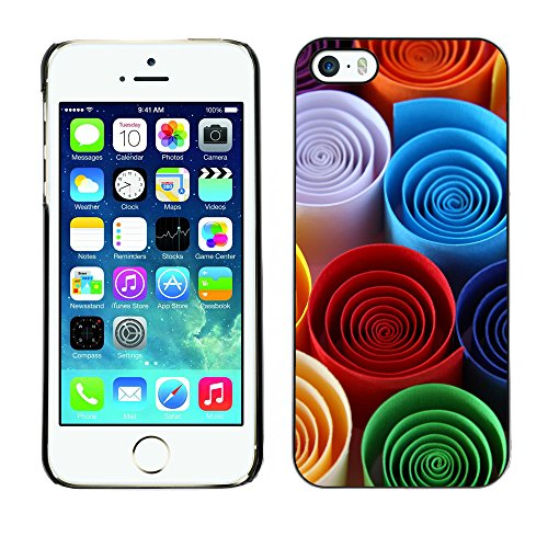 Premio Sottile Slim Cassa Custodia Case Cover Shell // V00001819 papier couleur // Apple iPhone 5 5S 5G