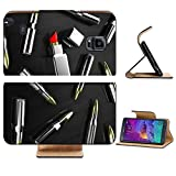 Liili Premium Samsung Galaxy Note 4 Flip Pu Leather Wallet Case Illustration of cartridges with lipstick on dark a background IMAGE ID 11481121