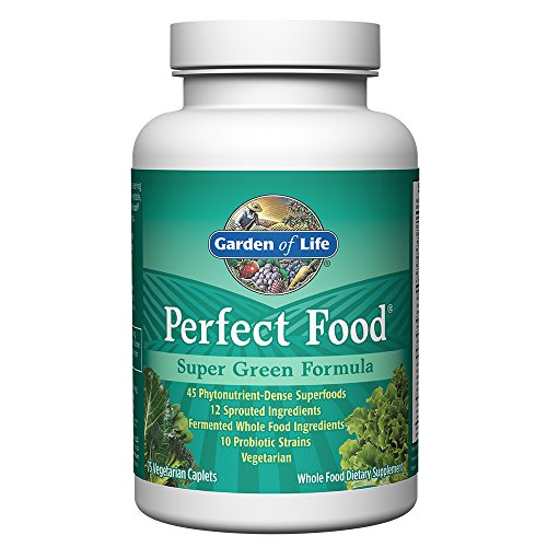 Garden of Life Whole Food Vegetable Supplement – Perfect Food Green Superfood Dietary Supplement, 75 Vegetarian Caplets
