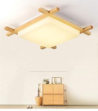 Deckenleuchte Holz Lampe Platz Holzlampe Eiche Deckenlampe