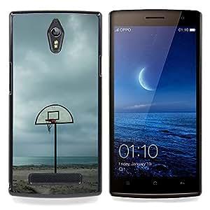- Beach Court Basketball - - Cubierta del caso de impacto con el patr??n Art Designs FOR Oppo Find 7 X9007 Queen Pattern