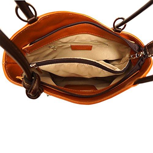 transformable à Foncé sac dos Cognac à en sac èpaule marron 207 1cc4PFE